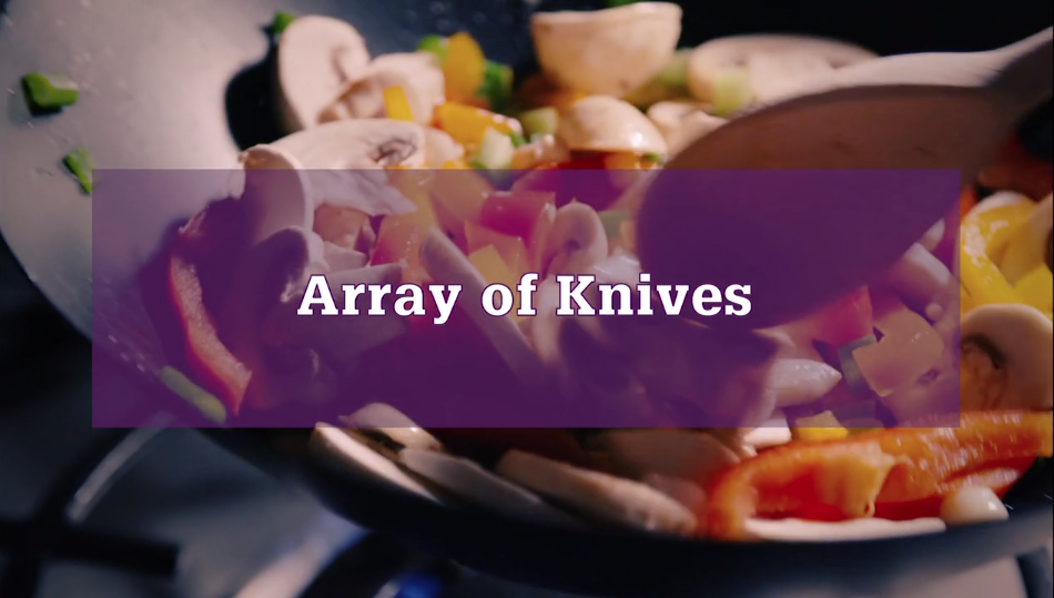"""Array of Knives"" video – HNC Cookery"